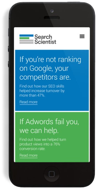 phone - seo and adwords image