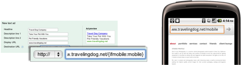 AdWords Mobile Ads ValueTrack Parameter