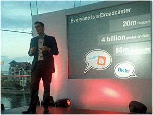 Matt-Brittin, Google UK MD presenting in Belfast, Northern Ireland 2010
