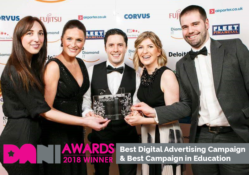 Search Scientist win best digital advertising campaign DANI Awards and best campaign in Education