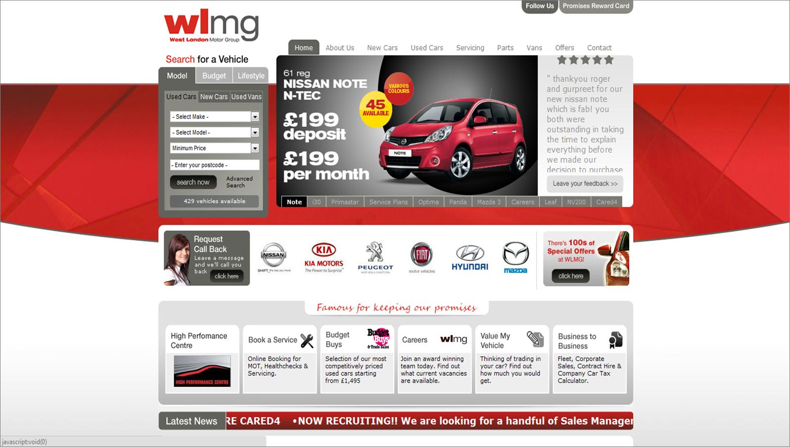 wlmg.co.uk screenshot