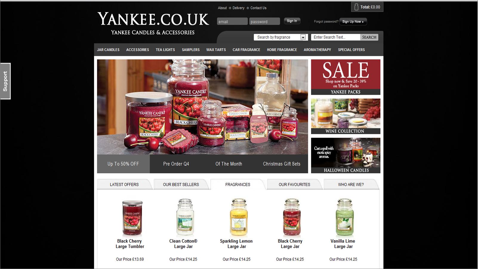 yankee.co.uk screenshot