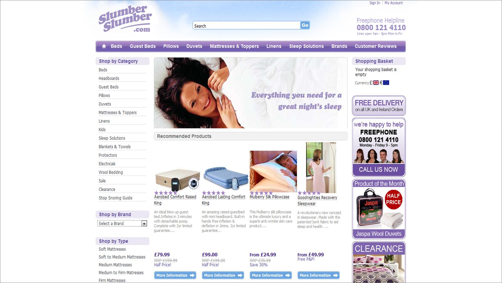 slumberslumber.com screenshot