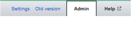 Google Analytics Admin Button Screenshot
