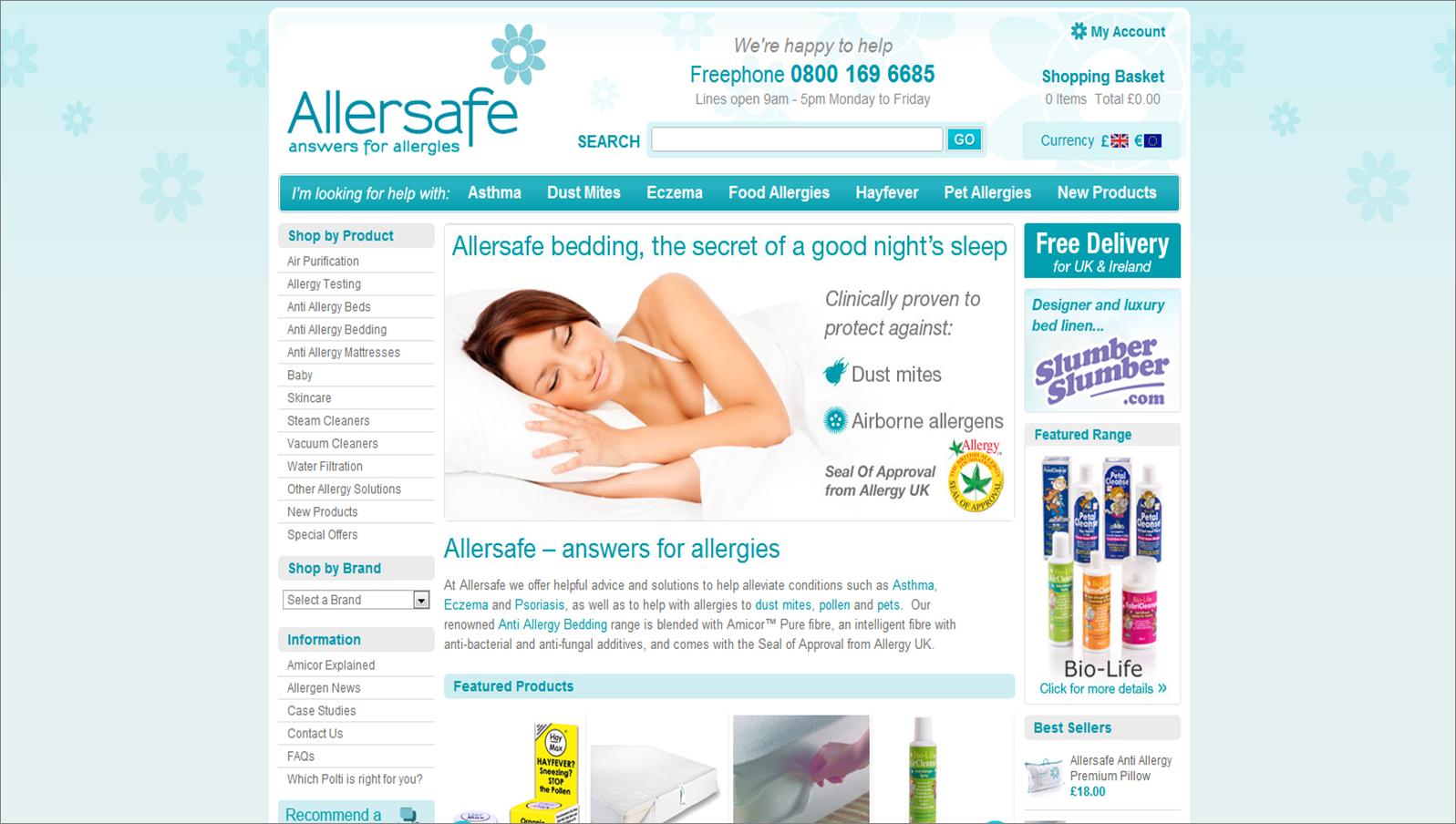 allersafe.co.uk screenshot