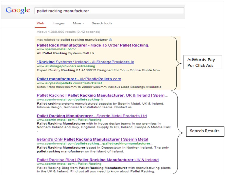 pallet racking manufacturer sperrin metal screenshot