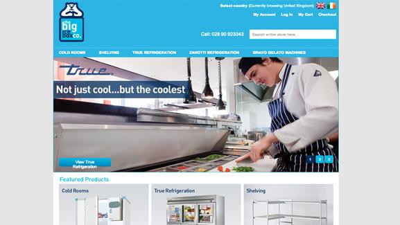 The Big Ice Box Website Screenshot