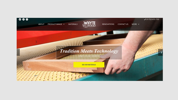 Whyte & Wood Website Screenshot