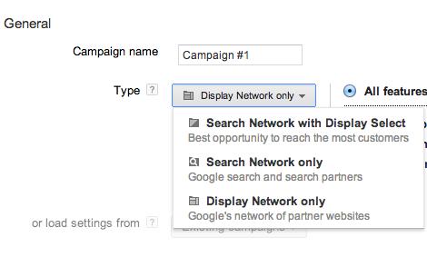 Choose Display network options