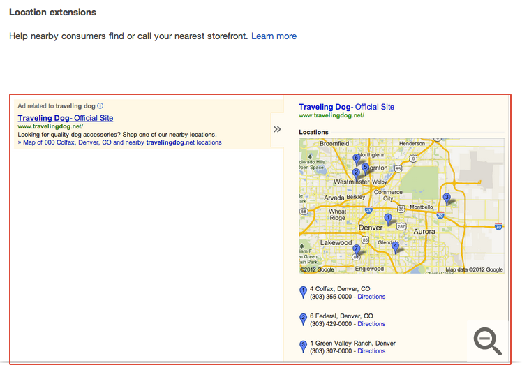 Location Extension for AdWords