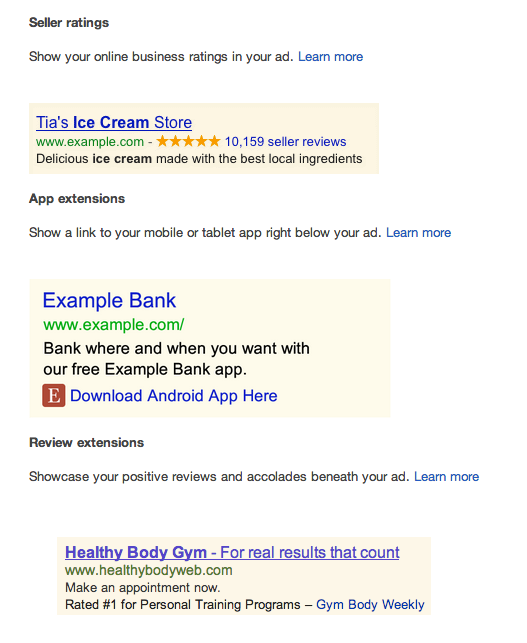 AdWords Seller Extensions