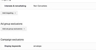 Display Remarketing settings