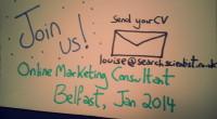 online marketing SEO job Belfast 2014 Search Scientist Ltd