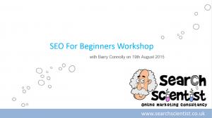 SEO Workshop August