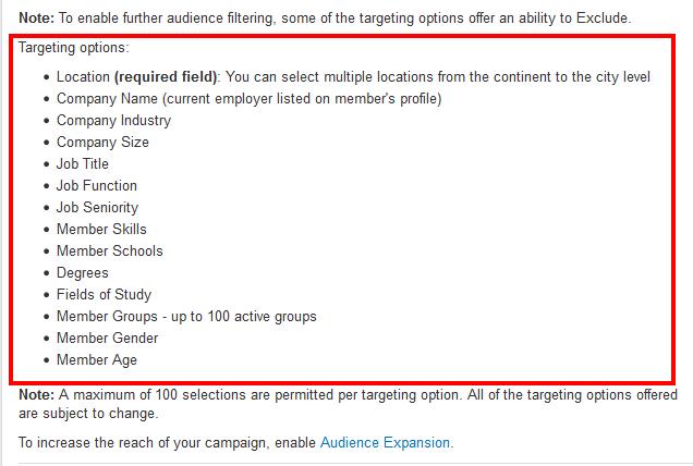Targeting Options for LinkedIn Advertisements - LinkedIn Help Center 2016-03-03 14-27-51