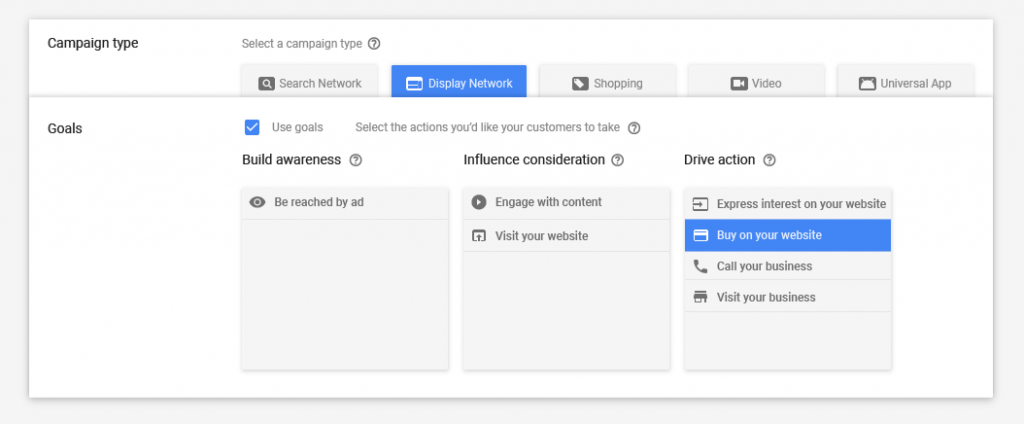 Campaign type in AdWords